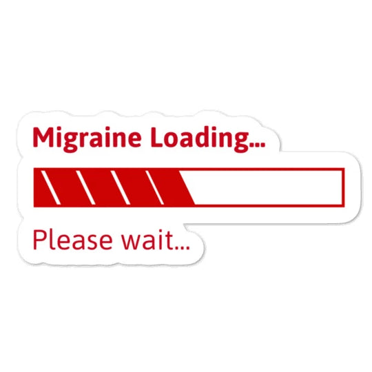 Migraine loading . . . - Bubble-free stickers