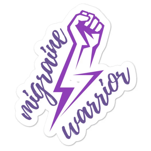 ⚡Migraine Warrior ⚡ - Bubble-free stickers