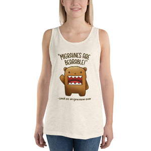 Migraines are BEARable 🐻- Unisex Tank Top