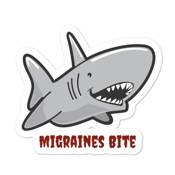 Migraines Bite 🦈 - Bubble-free stickers