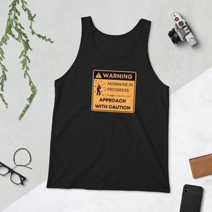 ⚠️Warning: Approach with Caution - Unisex Tank Top
