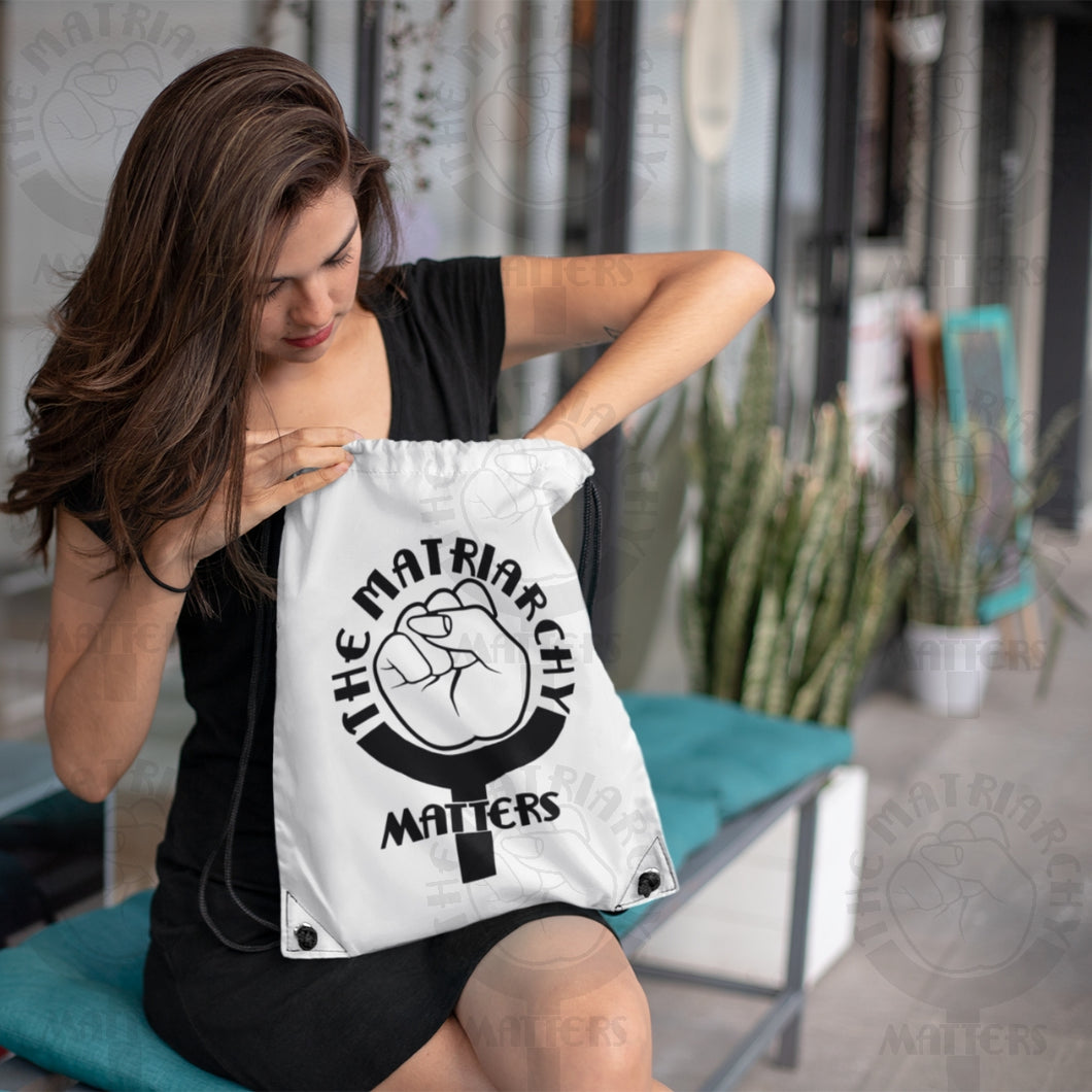 🌹 The Matriarchy Matters™ Drawstring Bag Cinch Sack - 2 Colors Options
