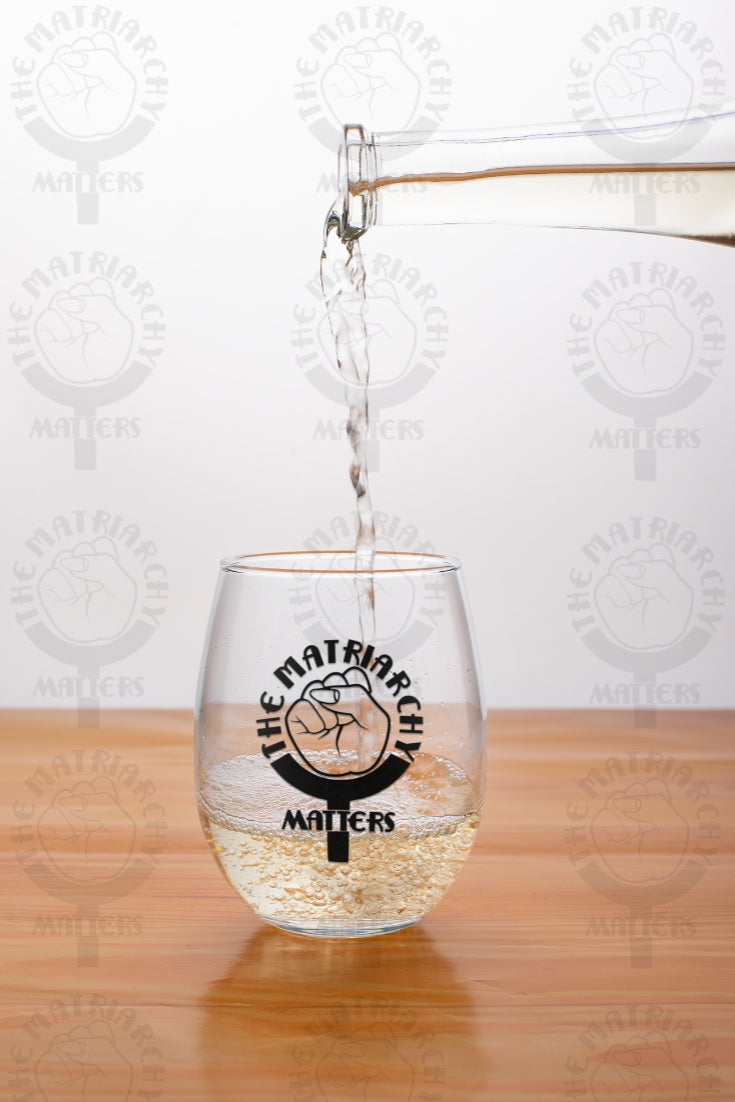 🌹 The Matriarchy Matters™ 9 oz. Wine Glass Tumbler Feminist Gift