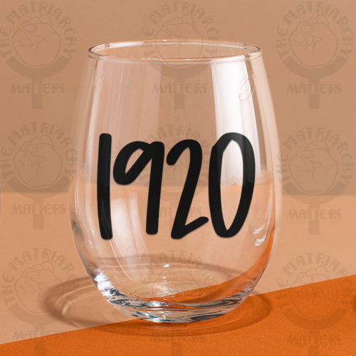 ♀️ 1920 9 oz. Wine Glass Tumbler Feminist Gift
