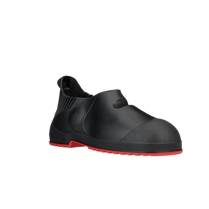 10 Ht PVC Overshoe - Black Upper Red Sole Cleated Outsole Tingley Workbrutes G2