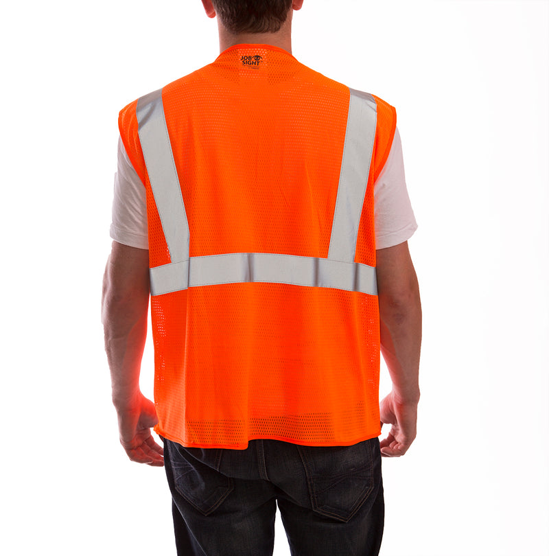 Job Sight™ Class 2 Zip-Up Mesh Vest - tingley-rubber-us