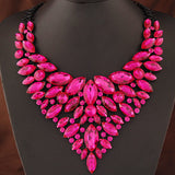 Collier Bijoux Necklace Women Multi layer Chain Necklace Collares Crystal Flower Necklaces - mem8store