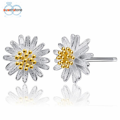 Women Daisy Flower Earrings Ear Stud Jewelry - mem8store
