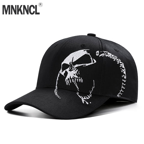 Baseball Cap Skull Embroidery 100% Cotton Outdoor Fashion Sports Hats - mem8store