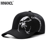 Baseball Cap Skull Embroidery 100% Cotton Outdoor Fashion Sports Hats