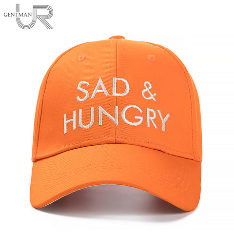 New Sad & Hungry Letter Embroidery Baseball Cap Women High Quality - mem8store