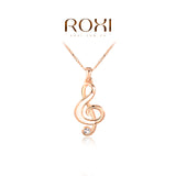 Necklace for Womens Necklace Music Note Pendant Necklace Rose Gold