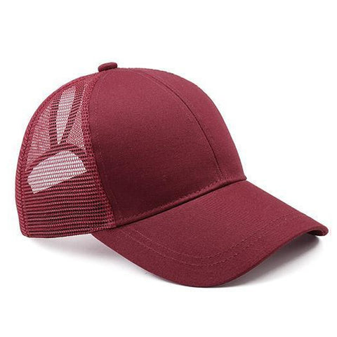 Ponytail Baseball Cap - Assorted Colors - mem8store