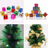 12 PCS Christmas Ornaments Foam Gift Box Xmas Tree Hanging