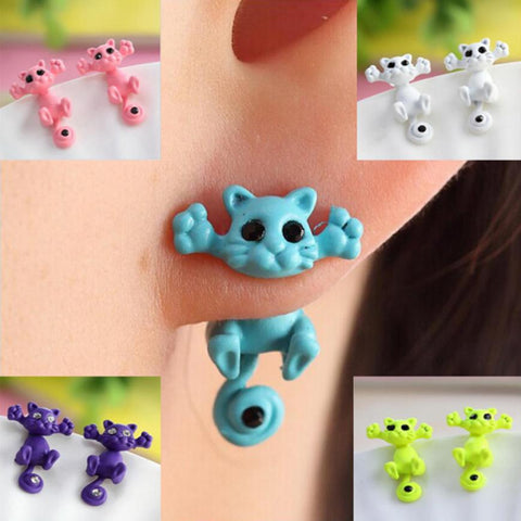 Single Earrings Animal Cartoon Cat Cat Kitten Women's - mem8store