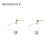 Simple Korean Heart Hollow Dangle Earring for Female