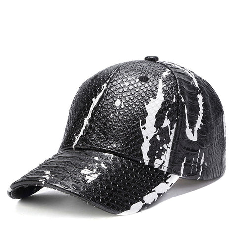 Baseball Caps For Men New Design Snake Skin Pattern Snapback Hats - mem8store