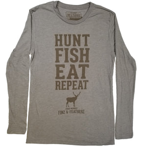 Hunt. Fish. Eat. Repeat Long Sleeve T