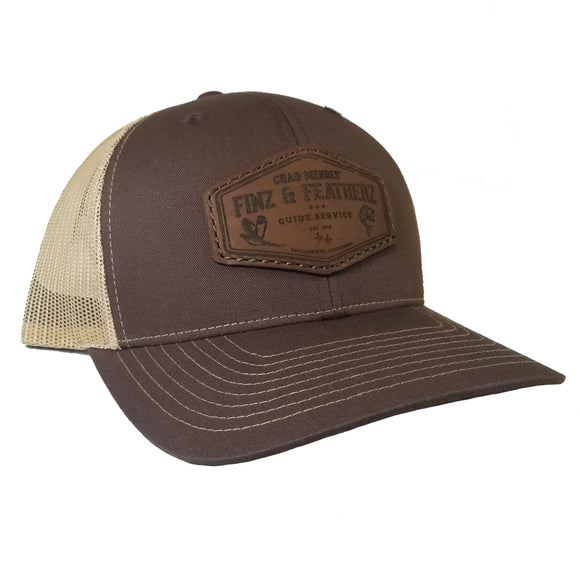 Brown Dark Leather Icon Hat