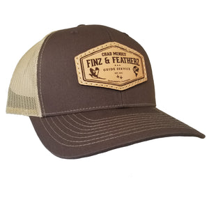 Brown Leather Icon Hat