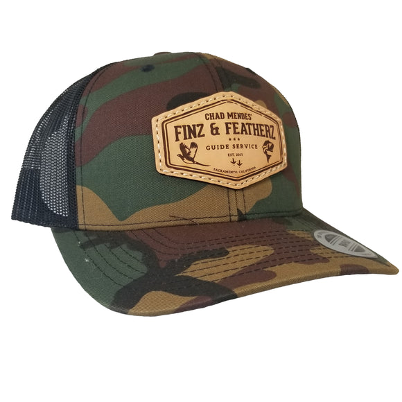 Camo Leather Icon Hat