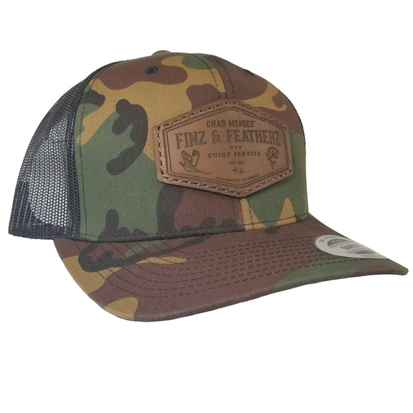 Camo Dark Leather Icon Hat