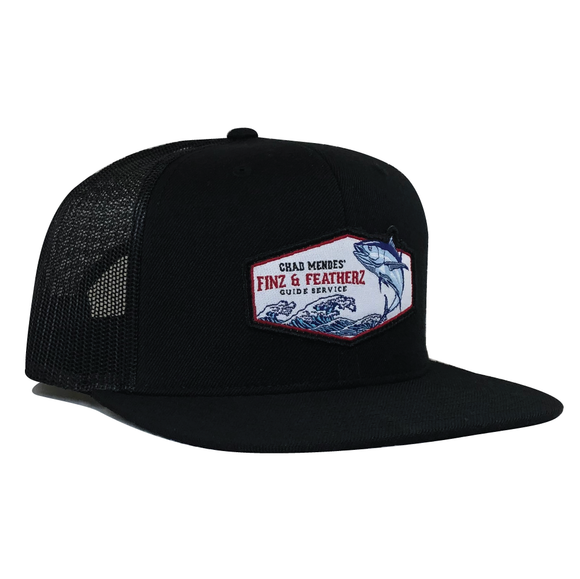 Tsunami Hat - Black Flat Bill
