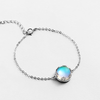 Aurora Bracelet · Sterling Silver with Crystal Stone