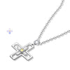 Cross Pendant Necklace · 18k Gold Plated with Zircon