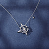 Magical Sparkling Star Necklace · Silver with Gold Plating