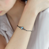 Milky Way Bracelet  · Black Plated Sterling Silver with Natural Abalone Stone
