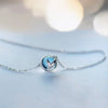 Mermaid Tail Necklace  · Sterling Silver & Blue Crystal