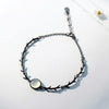 Moonlight Forest Bracelet  · Black Plated Sterling Silver with Moonstone Bead