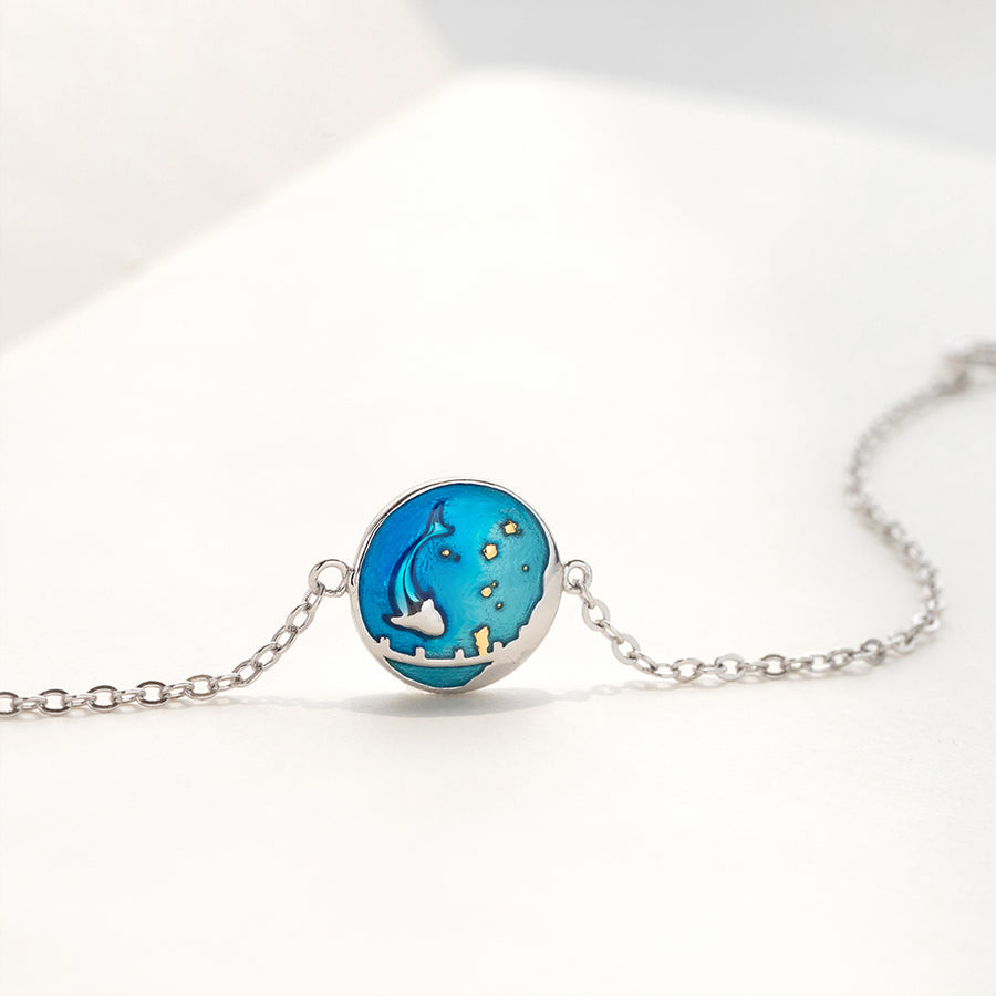 Sea of Stars Miniature Dolphin Bracelet · Sterling Silver