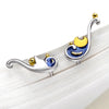 Van Gogh's Starry Night Earrings · Sterling Silver with Cloisonne Enamel