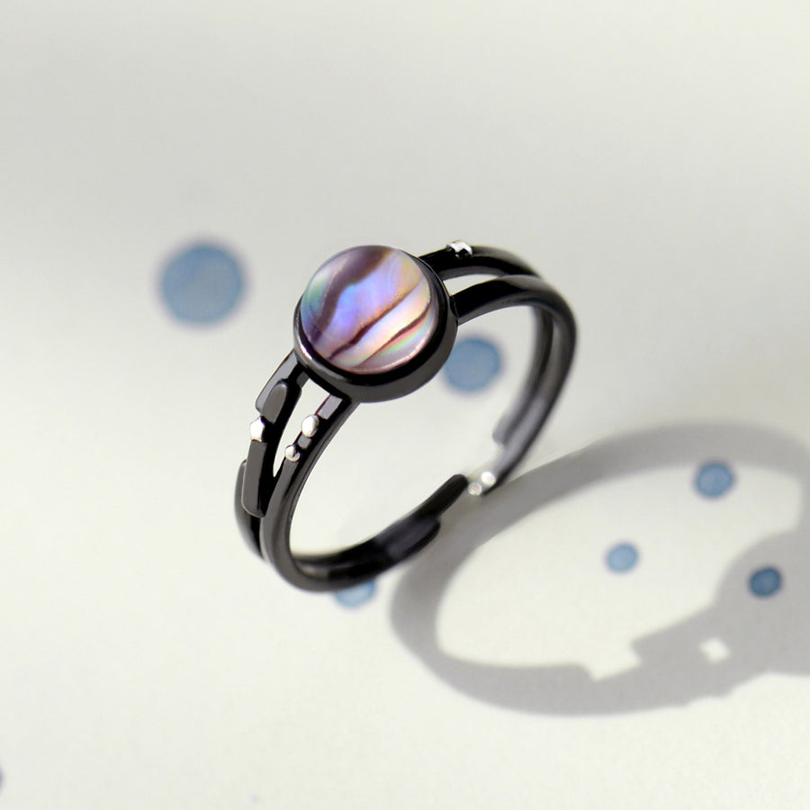 Milky Way Couple Rings  · Sterling Silver with Magical Stone