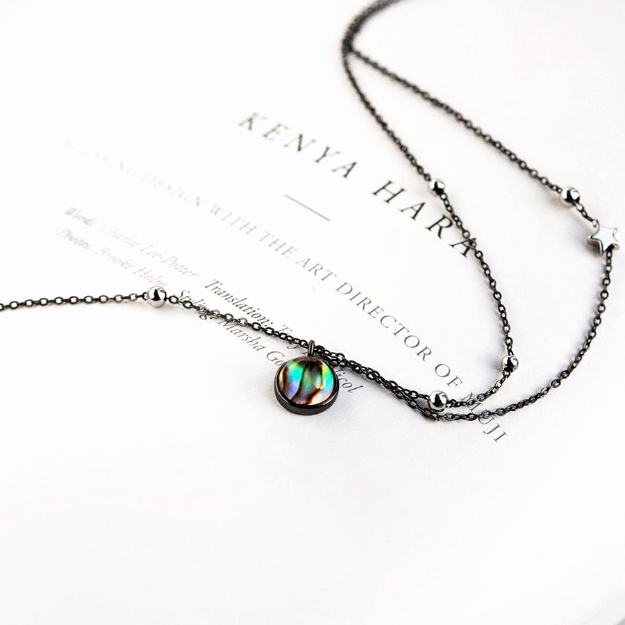 Milky Way Necklace  · Sterling Silver with Crystal Stone Pendant