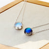 Aurora Necklace · Sterling Silver with Crystal Stone