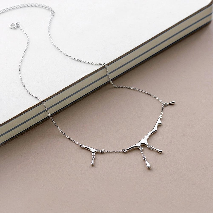 »Water Drops« Choker Necklace  · Sterling Silver