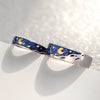 Van Gogh's Starry Night Couple Rings  ·   Sterling Silver with Cloisonne Enamel