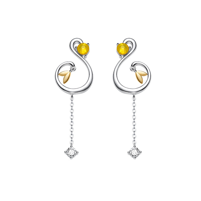 Wind Magic Earrings · 18K Gold Plated with Zircon