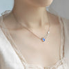 Princess  Necklace · Sterling Silver with Natural Water Drop Shape Moonstone