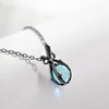 Sleeping Beauty Handmade Necklace · Black Plated Sterling Silver with  Blue Crystal