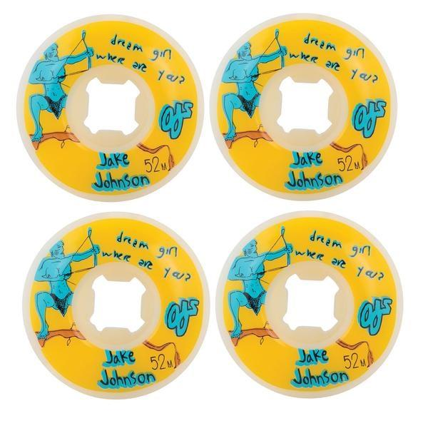 OJ Yellow Johnson EZ Edge Dream Girl Skateboard Wheels | 52mm 101A