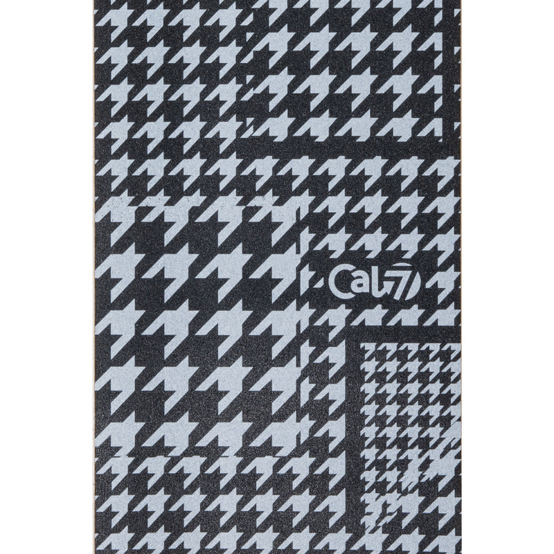Cal 7 skateboard griptape with tweed design