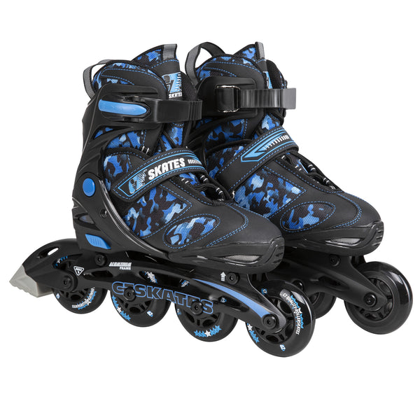 C7skates Youths Adjustable Inline Skates Camouflage Blue
