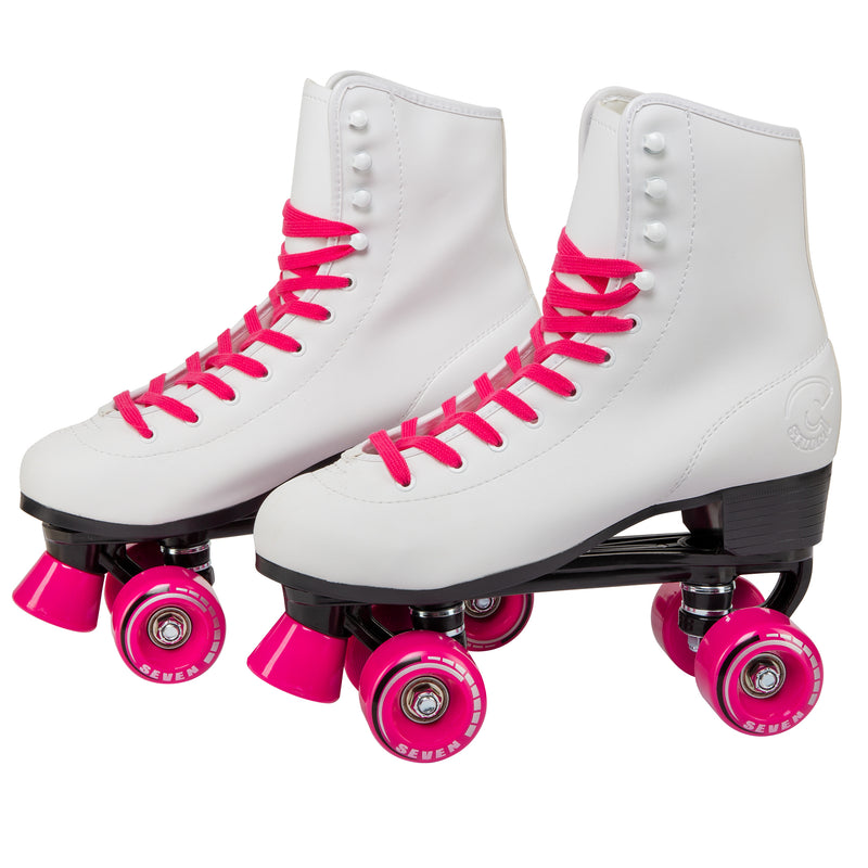 C7 Retro Quad Roller Skates Hot Pink