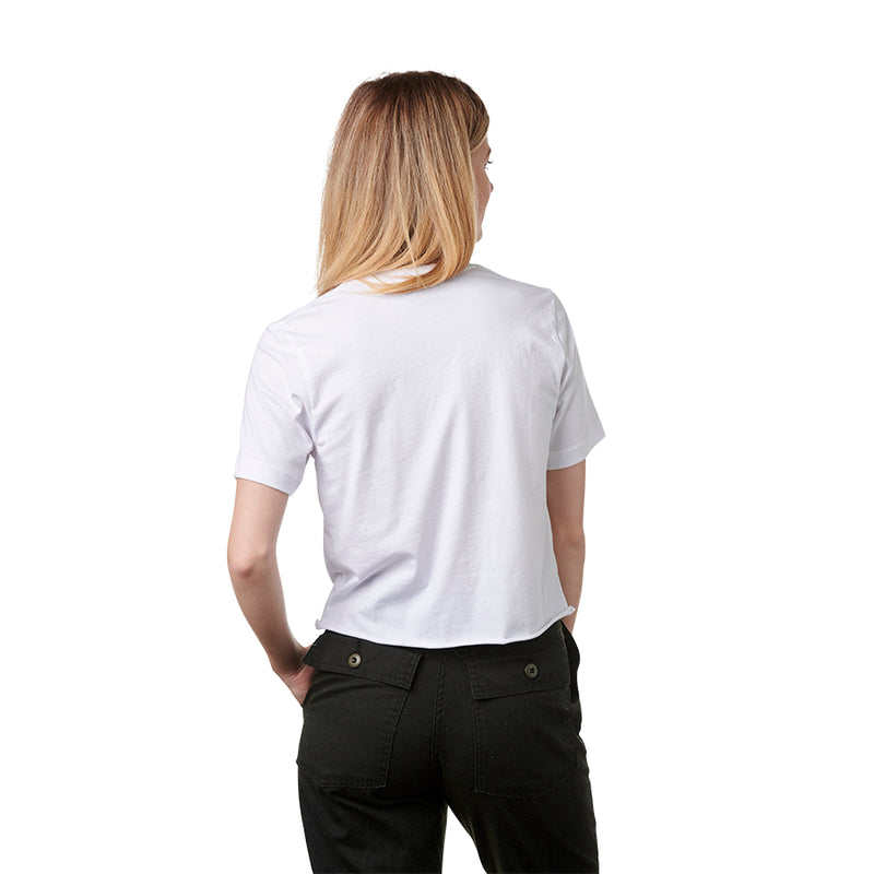 Santa Cruz Horizon Crop Boyfriend Women'S T-Shirt White
