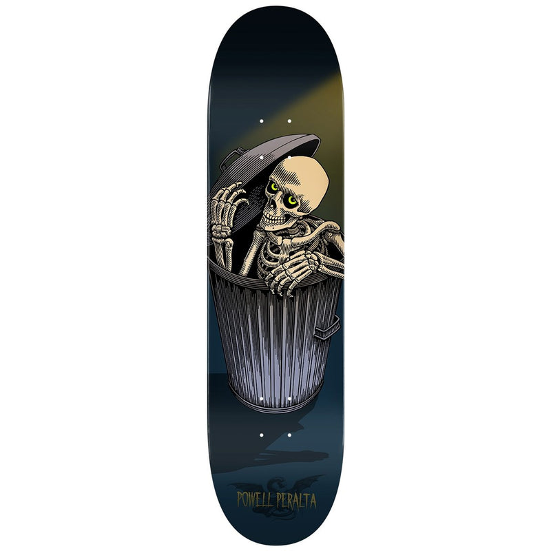 Powell Peralta 8 Inch Garbage Can Skelly Skateboard Deck