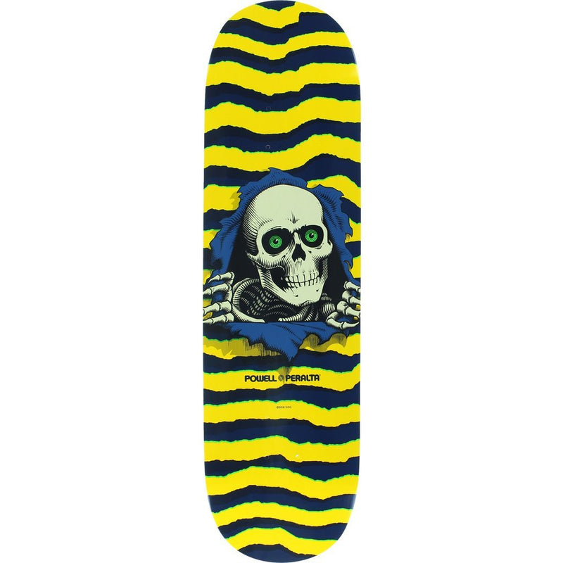 "Powell Peralta 8.5"" Ripper Yellow/Navy Skateboard Deck"